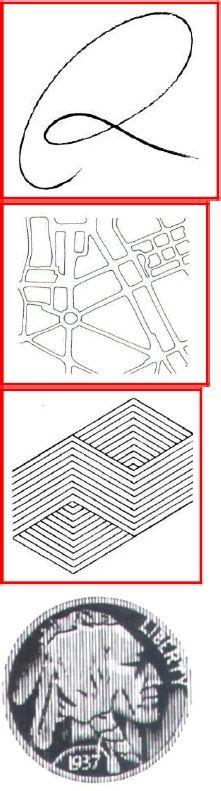Garisan menghasilkan ilusi ukuran Garisan menghasilkan tonkedalaman dan pergerakanGarisan bertindih menghasilkanKedalaman dan dimensi