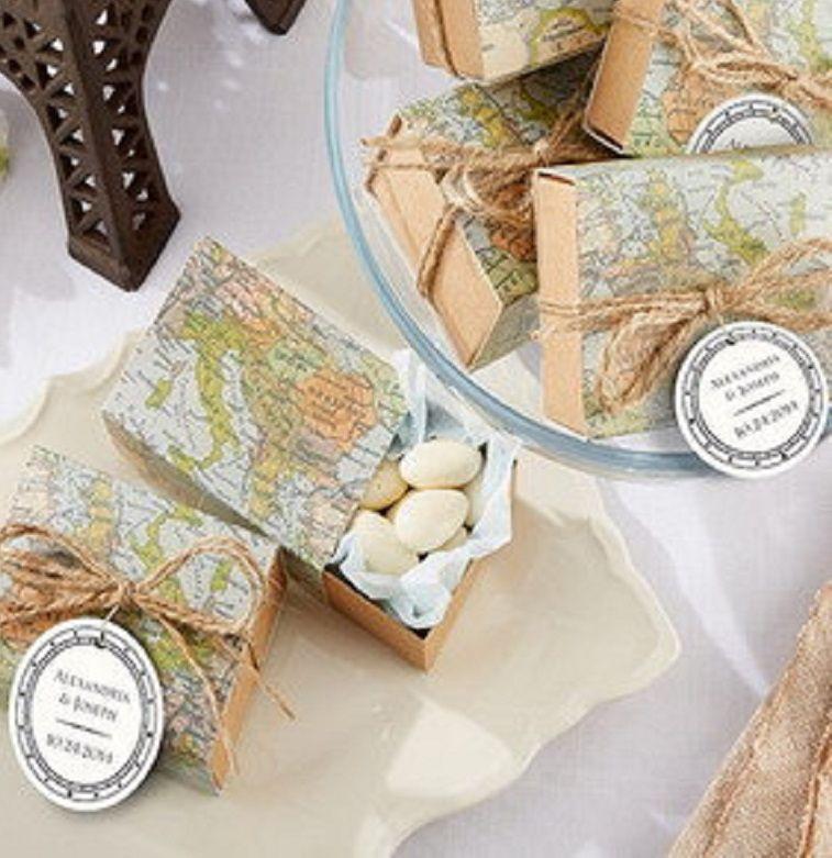 Di seluruh Dunia Kotak Favor Dunia Peta Kotak Favor Pernikahan Favor Ulang Tahun Favor Baby Shower Kotak Permen 12 pcs