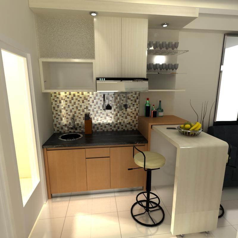 Contoh Hiasan Dalaman Rumah Flat Terhebat Meja Bar Di Dapur Rumah Minimalis Gambar 715