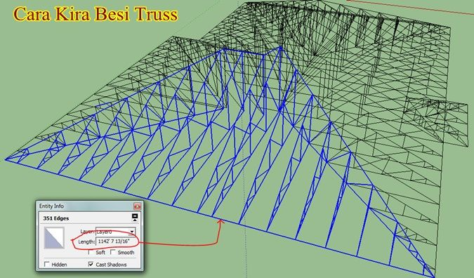 Contoh Pelan Bumbung Rumah Baik Cara Kira Kerja Kerja Bahan Untuk Buat Bumbung