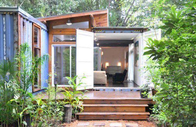 Rumah kontena seelok eloknya dibuat di kawasan hutan Baru sejuk