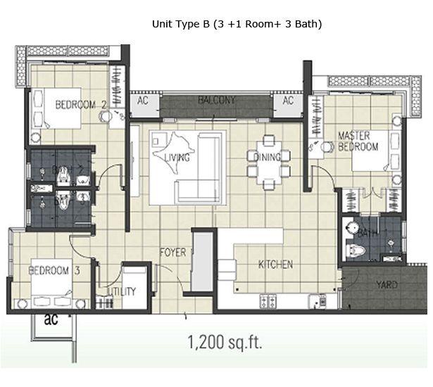 Contoh Pelan Rumah 2 Tingkat 20x70 Bermanfaat Pelan 1200 Kaki Persegi