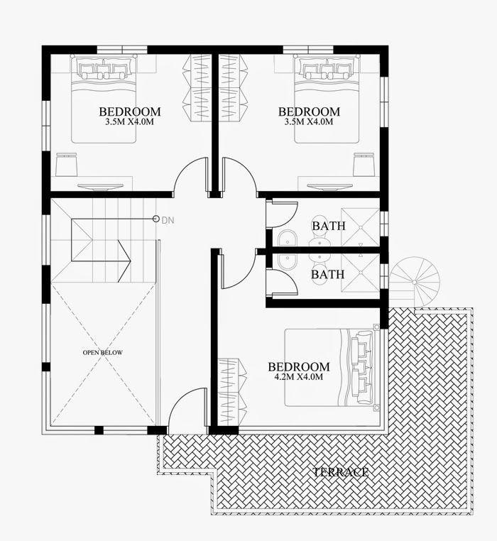 Contoh Pelan Rumah 20x30 Terbaik Modern Duplex House Designs Elvations Plans Cad Drawing