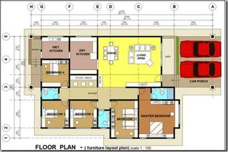 Plan Rumah 5 Bilik Tidur Desain id
