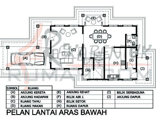 Contoh Pelan Rumah Autocad Baik Design Rumah D2 14 3 Bilik 3 Bilik Air 30 X64 2295 Kaki