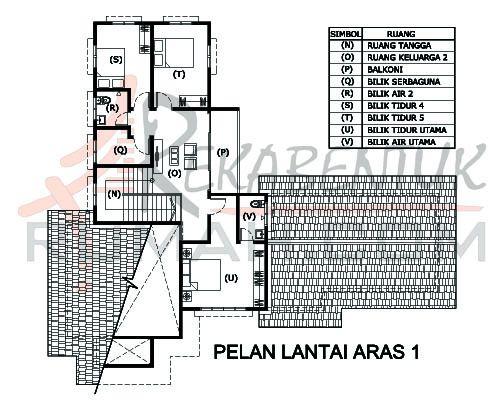 DESIGN RUMAH D2 08 6 bilik 3 bilik air 64 x59′ – 2987 kaki persegi
