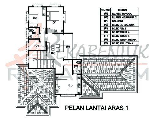 Contoh Pelan Rumah Banglo Setingkat 4 Bilik Power Design Rumah 6 Bilik Archives Rekabentuk