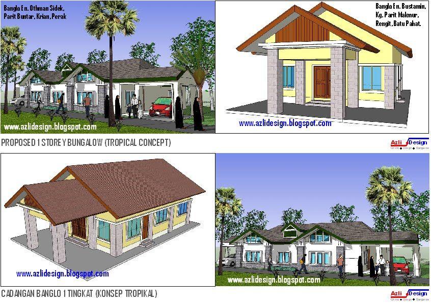 Contoh Pelan Rumah Kos Rendah Terhebat Idea Rumah Idaman anda Idea Design Bungalow Pelan Rumah Banglo