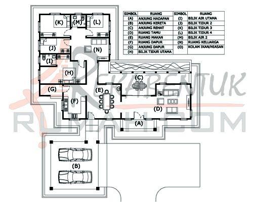 DESIGN RUMAH D1 03 4b 2ba 64 x74′ – 2398 kaki persegi