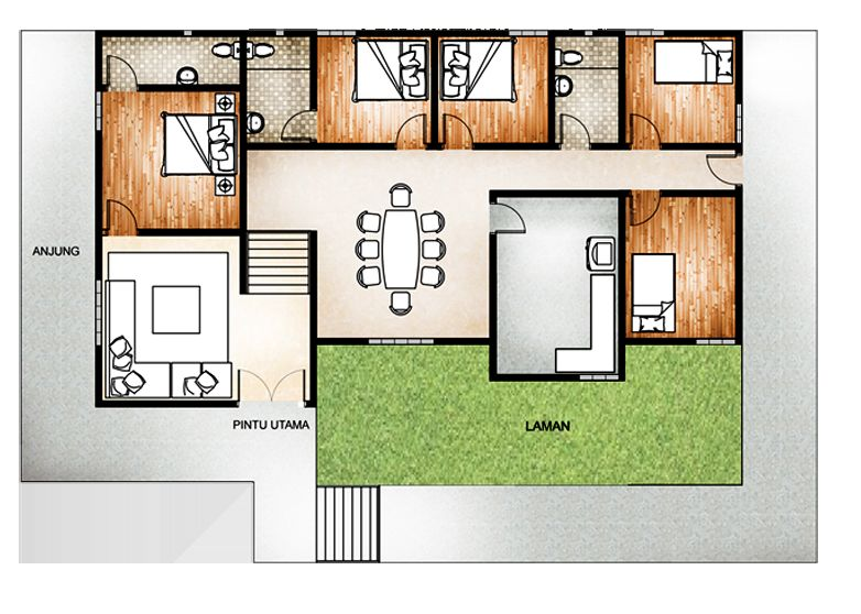 Deko Bilik Tidur Rumah Teres Hebat 5 Bilik Tidur Floor Plan In 2018 Pinterest
