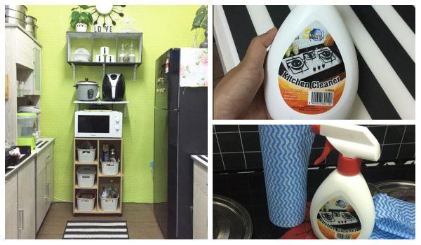 Deep Cleaning Dapur Rumah Supaya Berkilat Macam Dalam Majalah