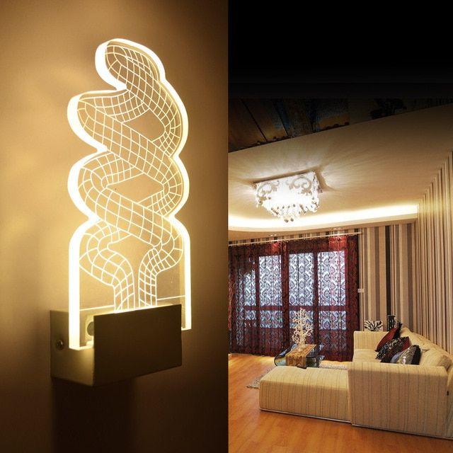 Modern Spiral LED Lampu Dinding Lampu Latar Belakang Permukaan Dipasang Cahaya Pencahayaan Dalam
