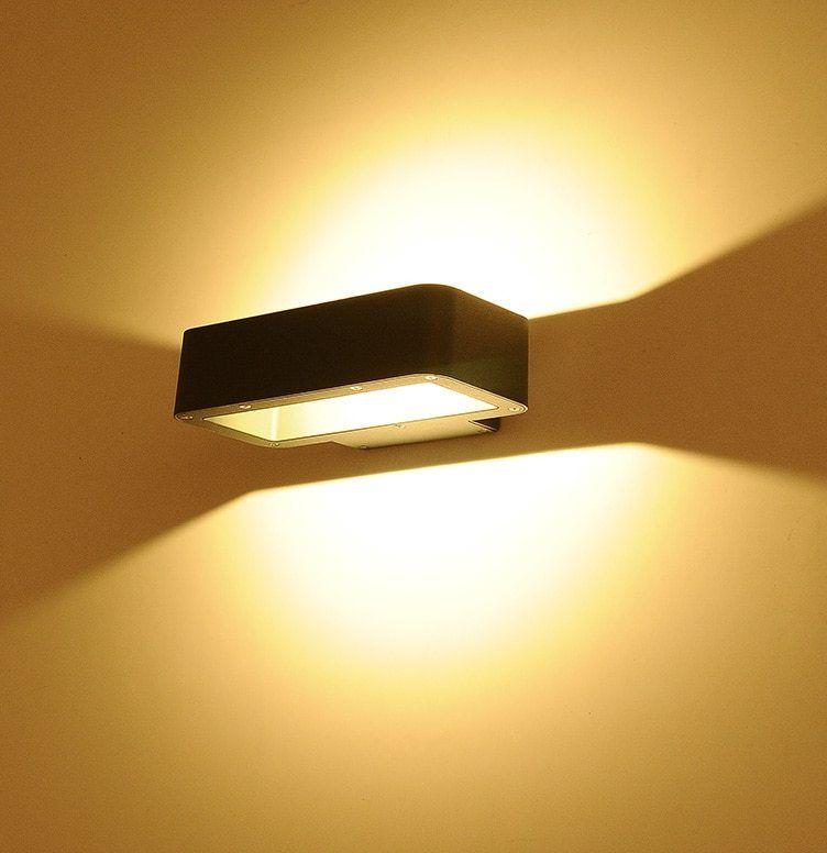 Modern LED lampu dinding luar Porch cahaya COB 5 w Tahan Air IP65 untuk dekorasi taman up dan down dinding kamar mandi cahaya 1153