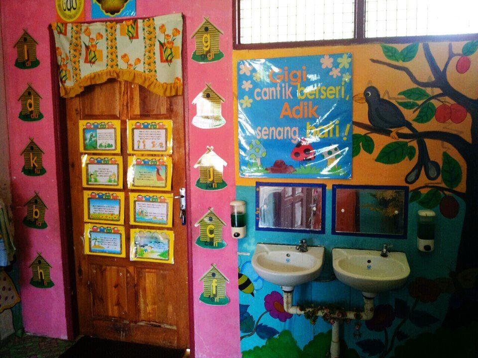 Deko Pintu Masuk Rumah Penting Little Kelly Kindergarten Persekitaran Dalaman Tadika