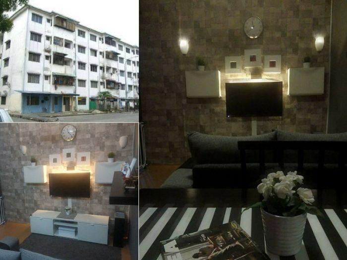 Deko Ruang Tamu Rumah Teres 2 Tingkat Bernilai Flat Kos Rendah Mampu Dihias Secantik Ini Dengan Kos Tak Sampai 5k
