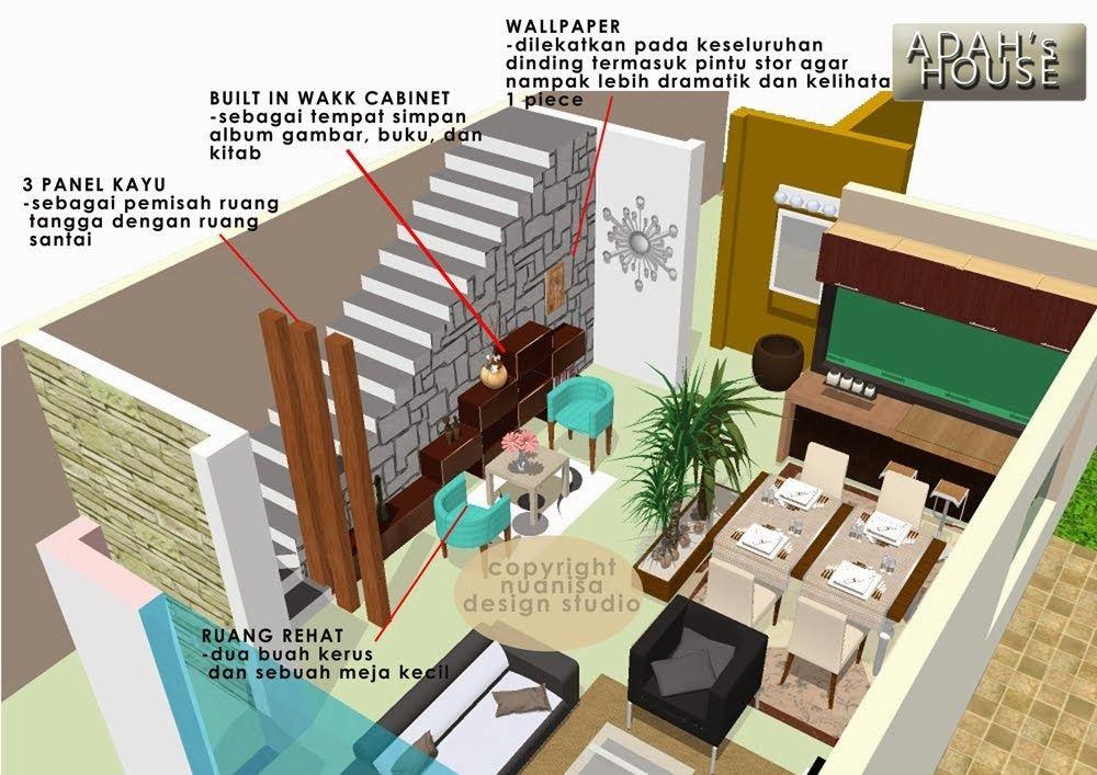 Deko Ruang Tamu Rumah Teres 2 Tingkat Penting Perkhidmatan Rekabentuk 3d Line