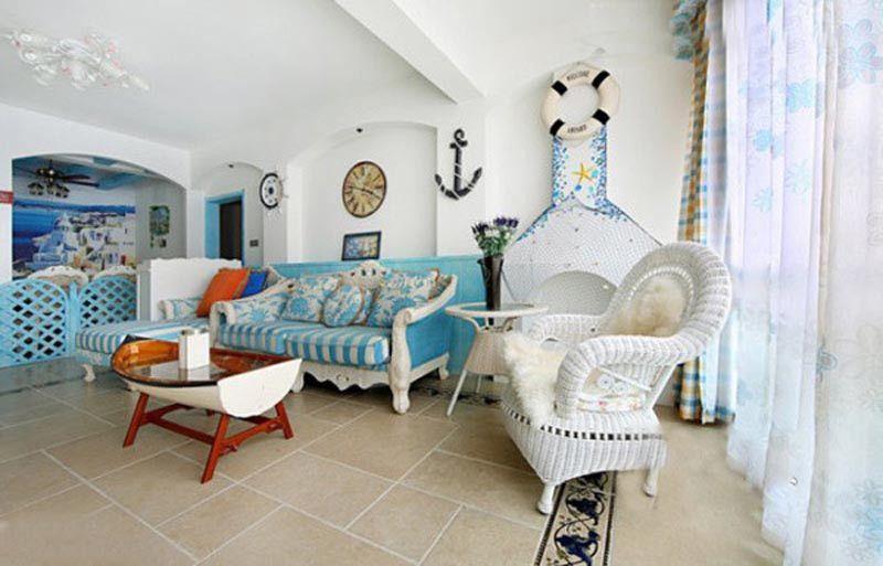 Deko Rumah 2 Tingkat Berguna Ywbeyond Elegan Mediterania Bahari Dekorasi Showcase Dinding Ruang