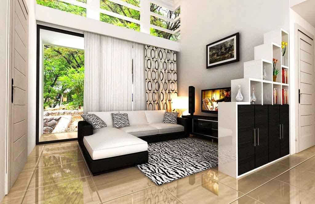 Gambar Dekorasi Ruang Tamu Rumah Flat Fajar Indah 2