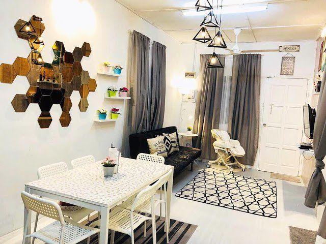 Ruang tamu selepas diubah suai Cantiknya