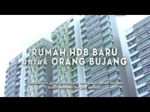 Rumah 2 Bilik HDB Baru Untuk Orang Bujang