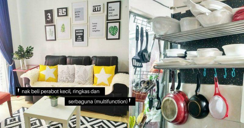 GAMBAR Hias Rumah Sewa Flat 805 sqf Dengan Perabot Hotel Terpakai Hasilnya memang sempoi