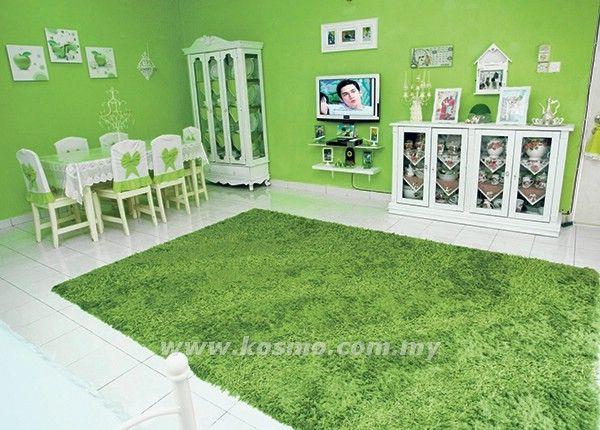 Deko Rumah Hijau Terbaik Hijau Pucuk Pisang Warnai Kediaman Naimah