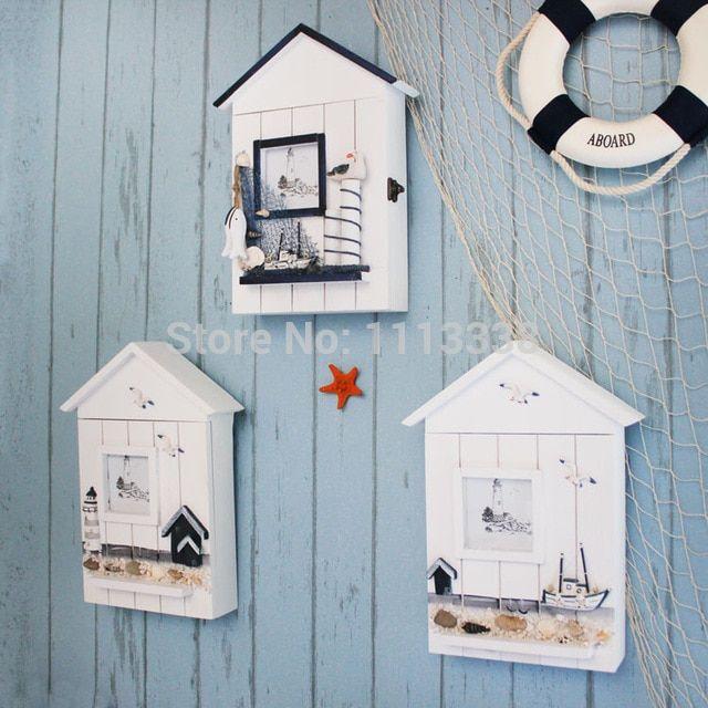 Deko Rumah Kayu Terbaik Mediterania Kayu Latchkey Kotak Kunci Dekorasi Hiasan Dinding