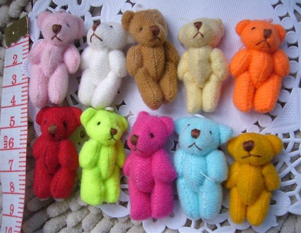 Mewah Boneka Mainan Boneka Bersama Beruang Bahan DIY Dekorasi Hadiah Beruang Kecil