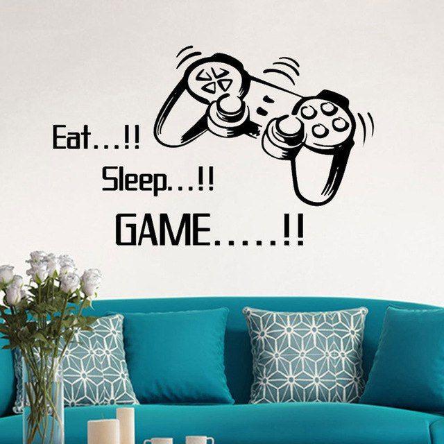 Deko Rumah Kg Berguna Makan Sleep Permainan Stiker Dinding Kamar Tidur Anak Laki Laki