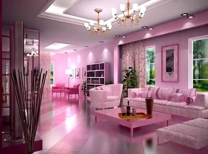 Tampak mewah warna merah jambu yang digunakan pun sangat lembut dan digabungkan dengan warna putih tidak menyakitkan mata melihatnya