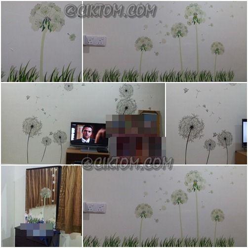 Dekorasi Rumah Wallpaper Cantik dan Murah Cantik tak wallpaper umah kak tikah ni