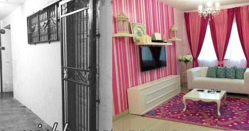 GAMBAR Tranformasi Rumah Flat 650sqf Menjadi Sebuah Kondo Betu Betul Cantik