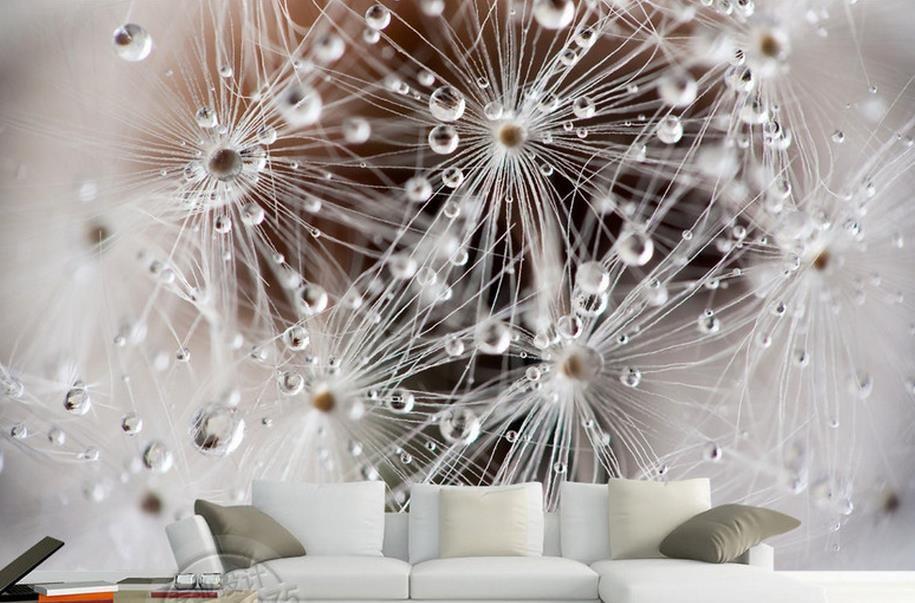Deko Rumah Ruang Kecil Menarik Menyesuaikan Foto Mural 3d Ruang Tamu Wallpaper Dandelion Estetika