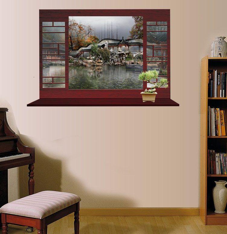 Klasik landscape art Poster dinding stiker Untuk dekorasi Rumah decal busana ruang duduk kamar tidur dekorasi stiker dinding