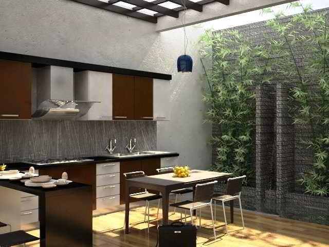 Deko Rumah Simple Berguna Desain Dapur Terbuka Minimalis