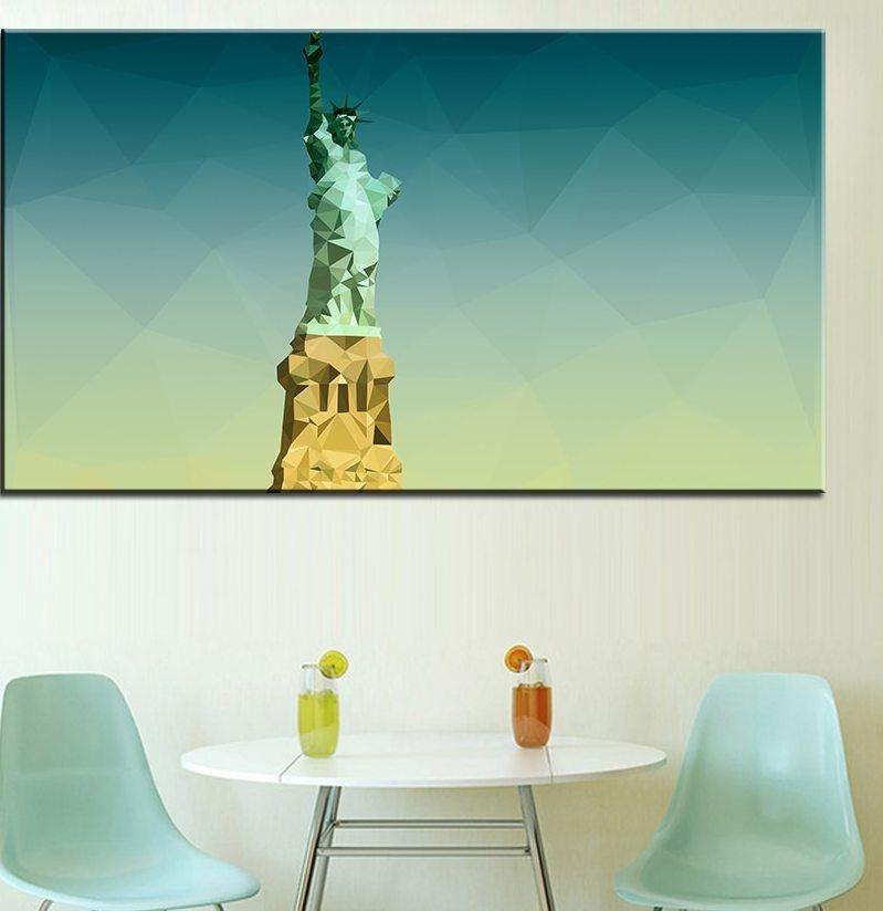 Ukuran besar Pencetakan Lukisan patung liberty Dinding lukisan Minyak Dekorasi Dinding Gambar Seni Untuk Ruang Tamu lukisan No Frame
