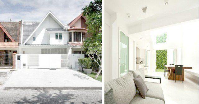 Deko Rumah Teres 1 Tingkat Terhebat Keunikan Rumah Teres 2 Tingkat Konsep Moden Serba Putih Di Subang Jaya