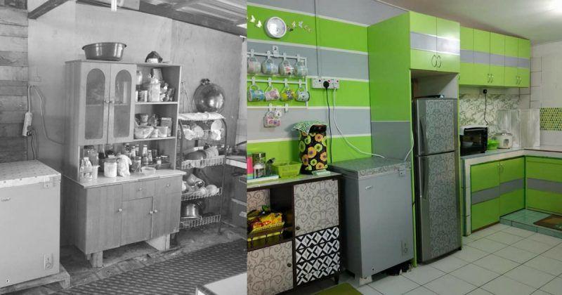 Deko Rumah Teres Baik Perlahan Lahan Kayuh 2 Bulan Untuk Bina Dapur Kampung Ni Nampak