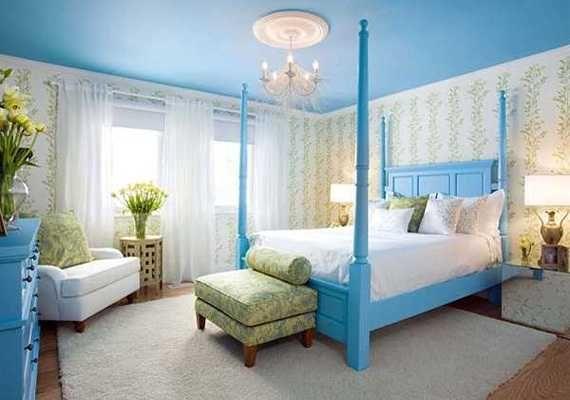 Dekorasi Kamar Hijau toska 18 Contoh Ide Kreatif Dari Dekorasi Kamar Tidur Dengan Warna Biru tosca