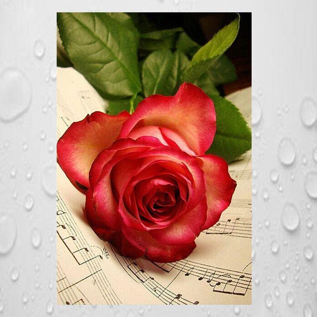 Deko Taman Rumah Meletup Lukisan Berlian Diy Kit Mainan Anak Buku Bunga Mawar Bunga Bayi Room