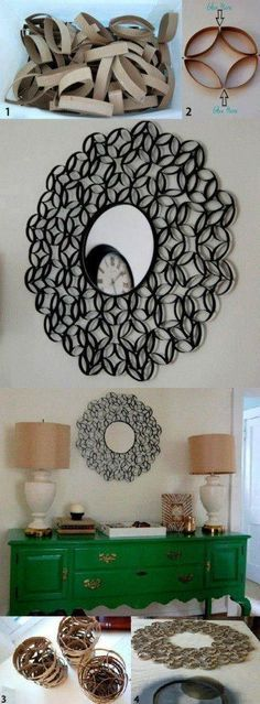 Wall Art Using Toilet Paper Rolls