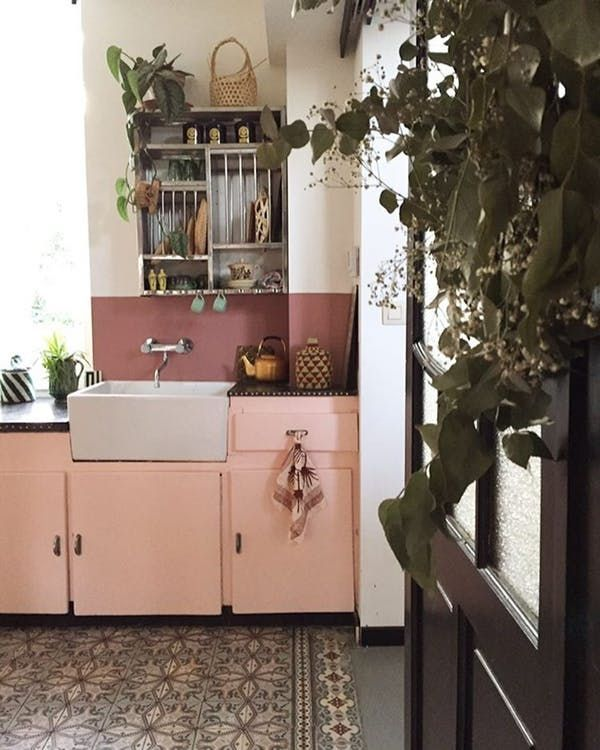 Dekorasi Dapur Berguna Ide Dekorasi Dapur Warna Pink Yang Manis