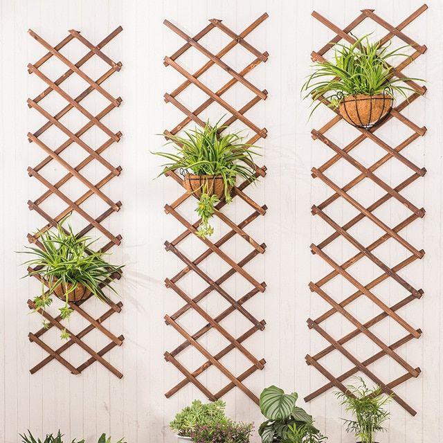 Memperluas Kayu Dinding Dinding Taman Panel Pagar Tanaman Memanjat Teralis Mendukung Pagar Taman Dekoratif Halaman Rumah