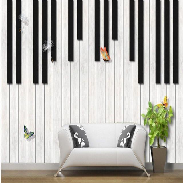 Foto wallpaper Kustom piano fashion kreatif musik mural TV latar belakang dinding ruang tamu studio kelas