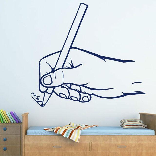 Dekorasi Kelas Terbaik Pegangan Tangan Pena Untuk Menulis Dinding Anak Anak Stiker Kamar