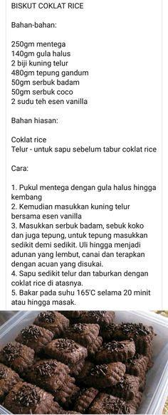 Biskut Chocolate Rice