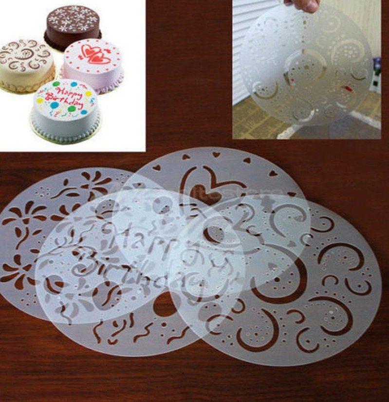 4 Pcs Putaran Kue Fondant kerajinan Dekorasi Cutter Bunga Hati Sugarcraft Cetakan