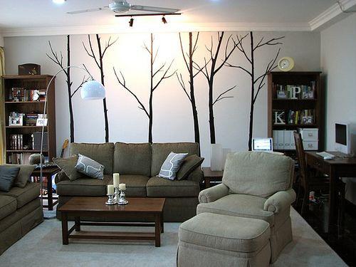 Feature wall di ruang tamu