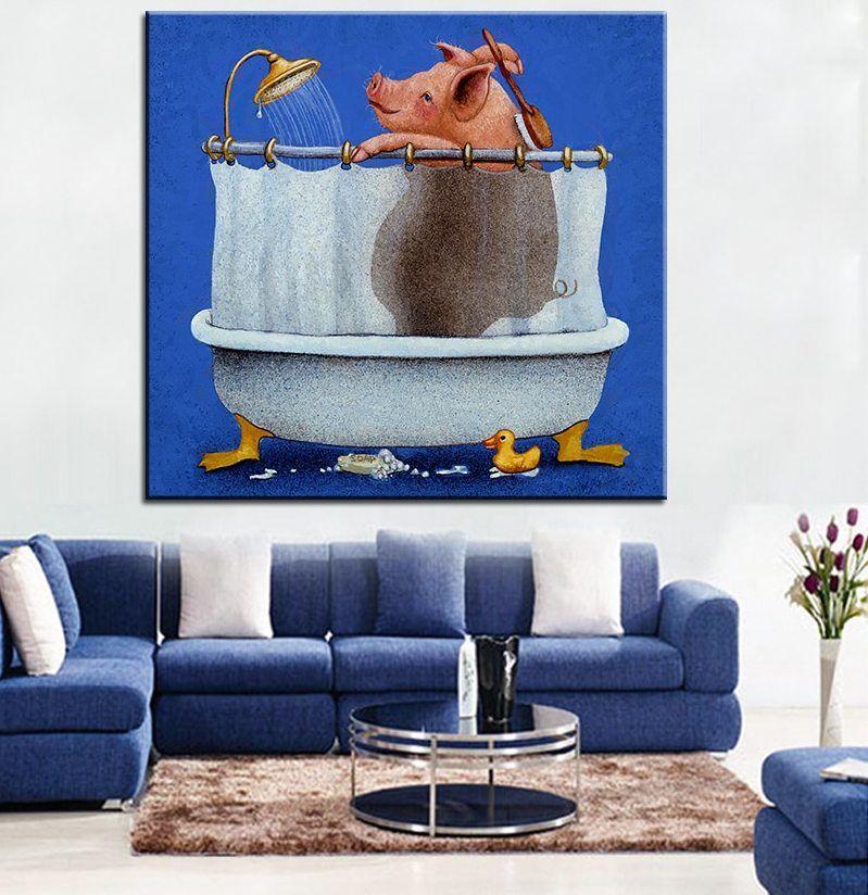 Ukuran besar Pencetakan Lukisan Minyak babi cuci lukisan Dinding Dinding Seni Dekorasi Gambar Untuk Ruang Tamu lukisan No Frame