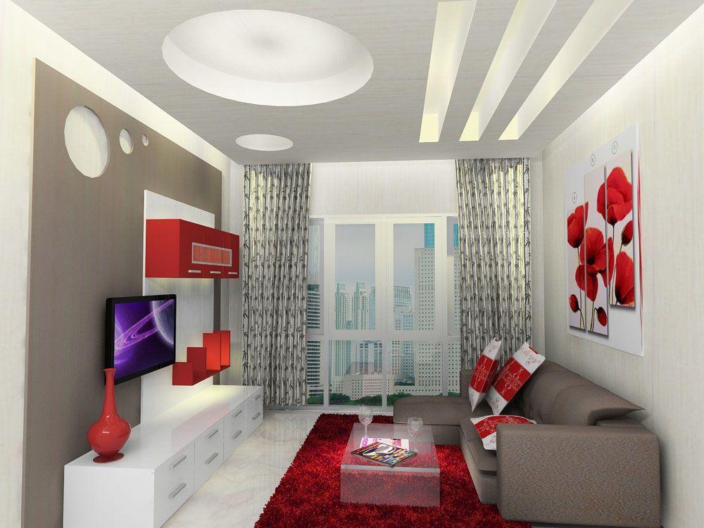 50 Dekorasi Ruang Tamu Yang Memanjang Terbaik Simpel Dan Elegan